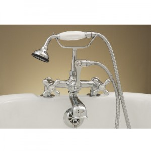British Deck Mount Telephone Tub Faucet