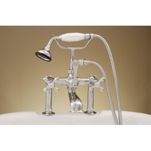 Clawfoot Deck Mount Tub Faucet with Hand Held Shower