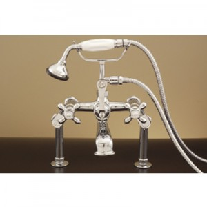 British Telephone Deck Mount Adjustable Tub Faucet