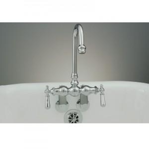 Clawfoot Gooseneck Tub Faucet