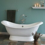 Cast Iron Double Ended Slipper Tub on Pedestal