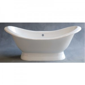 Acrylic Double Ended Slipper Bathtub